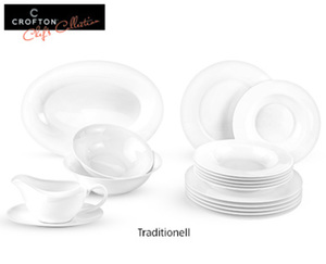 CROFTON®  Chef's Collection Tafelservice Classic Bone China, 17-tlg.
