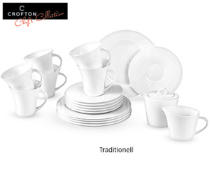 CROFTON®  Chef's Collection Kaffeeservice Classic Bone China, 20-tlg.