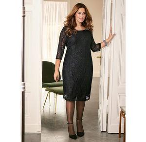 Laura Torelli plus (Gr. 44-58) Damen-Kleid mit aufwendiger Spitze, große Größen