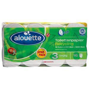 alouette Recycling Toilettenpapier 3-lagig Sparpack