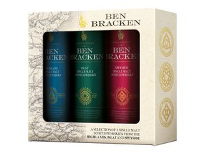 Ben Bracken Single Malt Whisky Mini-Pack, 3x0,05-l-Fl