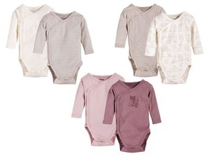 LUPILU® PURE COLLECTION 2 Baby Mädchen Wickelbodys/Bodys