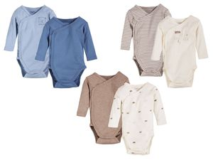LUPILU® PURE COLLECTION 2 Baby Jungen Wickelbodys/Bodys