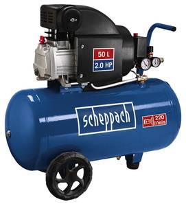 Kompressor HC54, 50 Liter, 8 bar, 1,5 KW Scheppach