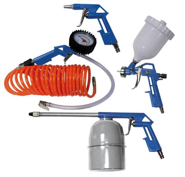 Druckluft Werkzeug Set, 5-teilig Scheppach