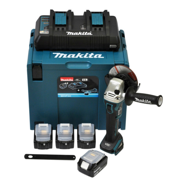 makita power source kit li 18 0v 4x 3ah mit dga504z akku. Black Bedroom Furniture Sets. Home Design Ideas