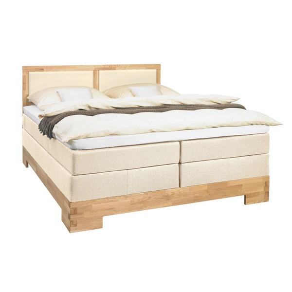 linea natura boxspringbett lederlook webstoff 180 200 cm inkl gepolstertes kopfteil. Black Bedroom Furniture Sets. Home Design Ideas