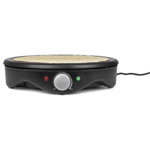 MEDION Crêpes Maker MD 17204, 1.500 Watt, antihaftbeschichtete 38 cm Backplatte, stufenlose Temperaturregulierung
