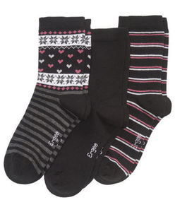 Ergee - Socken - Norwegermuster - 3er-Pack