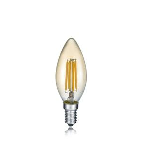 TRIO Retrofit LED Glühlampe /Leuchtmittel Kerze E 14 / 4 Watt (ca. 280 Lumen) FILAMENT getönt