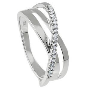 Moncara             Diamant-Ring 375 Weißgold mit 19 Diamanten, 0,10 ct.