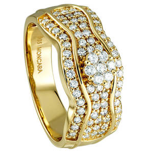 Moncara             Diamant-Ring 585 Gelbgold mit 73 Diamanten, 0,75 ct.
