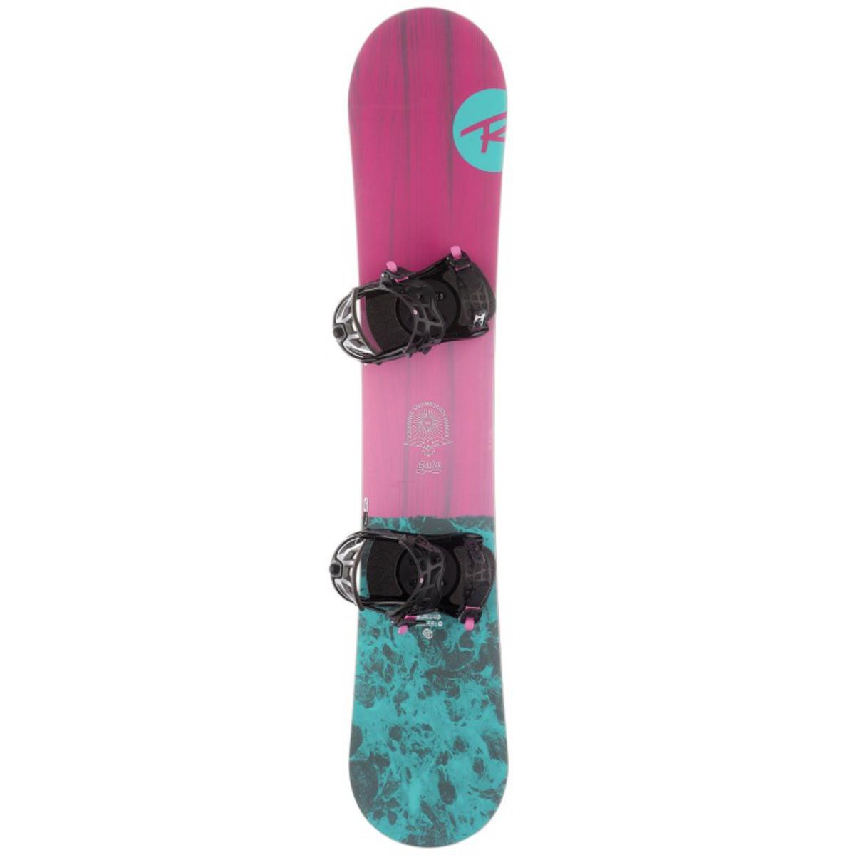 Bild 1 von ROSSIGNOL Snowboard-Set Allmountain Gala Damen rosa/blau, Größe: 146 CM