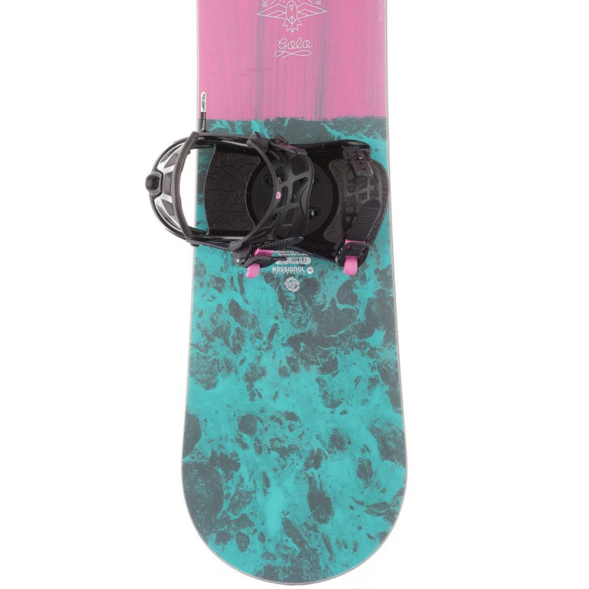 Bild 5 von ROSSIGNOL Snowboard-Set Allmountain Gala Damen rosa/blau, Größe: 146 CM