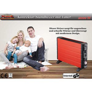 Mauk Standkonvektor-Heizer rot mit Timer