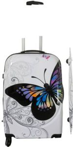 Polycarbonat-ABS-Kofferset Butterfly, 3-teilig