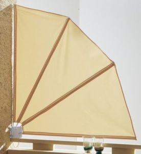Grasekamp Sichtschutz Fächer 120x120cm Balkon Trennwand Sand