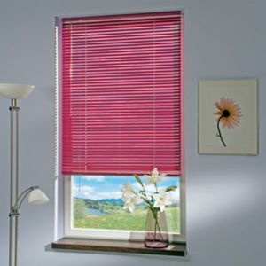 Liedeco Jalousie aus Aluminium Flieder, Jalousie für Fenster und Tür