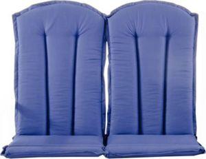 2er Set Auflage STRANDA für Sessel Hochlehner oder Bank in Blau