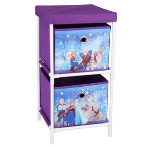 Frozen-Regal mit Aufbewahrungsboxen