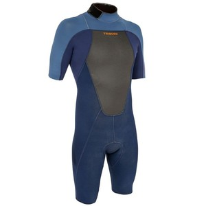 Neoprenanzug Surfen Shorty 500 Neopren 2 mm Herren blau TRIBORD