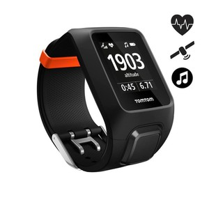 GPS-Pulsuhr Adventurer HFM + Music L schwarz/orange
