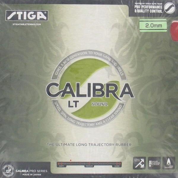 Tischtennis-Belag RVT Calibra LT Sound rot/schwarz  STIGA