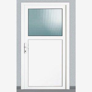 Nebeneingangstür 98 x 198 cm weiß DIN links