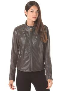 G-Star Chopper Slim Highway Lthr - Jacke für Damen - Grau