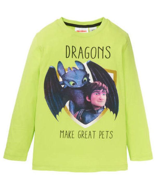 Dragons Langarmshirt Jungen Ohnezahn Hicks
