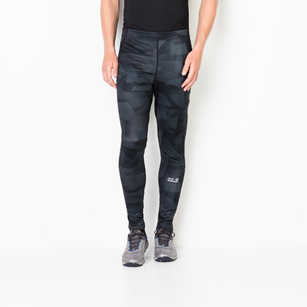 Jack Wolfskin Laufhose Männer Grid Tights Men XXXL black all over