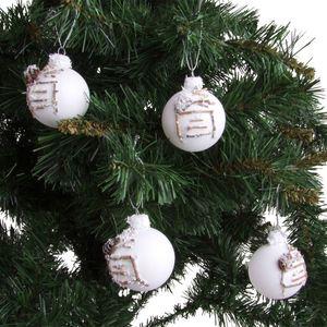Weihnachtsbaumkugeln Ramo 6cm 4er-Set