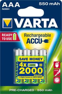 Varta AAA 4er Pack Ready to use