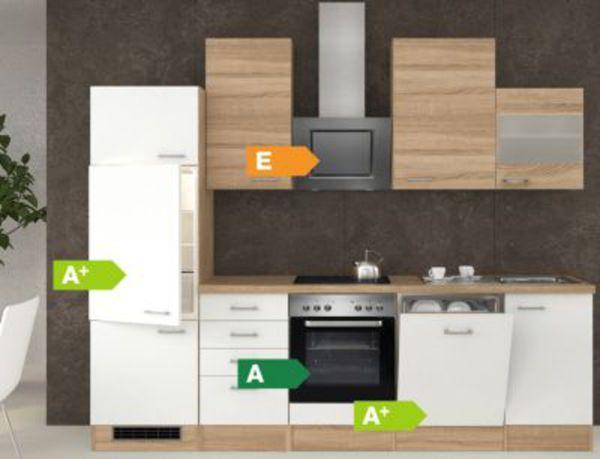 Flex-Well Küchenzeile G-280-2301 + Glas Samoa 280 cm von plus.de ...