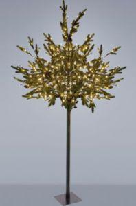 H&S Baum beleuchtet mit Tannenzapfen