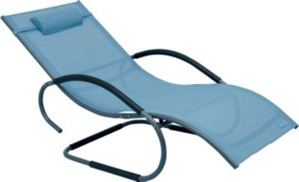 sale luxus xxl aluminium schwingliege swingliege gartenliege sonnenliege blau von. Black Bedroom Furniture Sets. Home Design Ideas