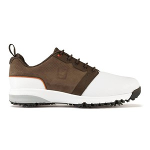 Golfschuhe Contour Fit Herren weiß/braun FOOTJOY