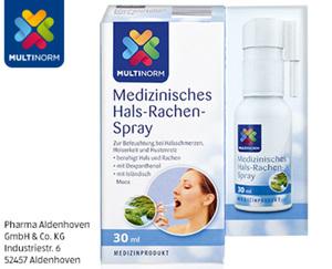 MULTINORM Medizinisches Hals-Rachen-Spray