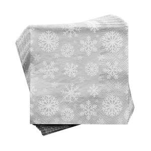 Papierserviette Schneeflocke