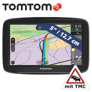 Navigationssystem Via 52 EU inkl. Free Lifetime Maps** • Fahrspurassistent, Sprachsteuerung Speak & Go • lebenslang TomTom Traffic- Verkehrsinformationen via Smartphone