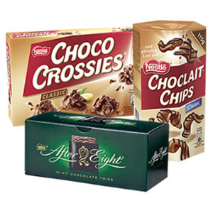 After Eight 200 g, Choclait Chips 115 g,Choco Crossies 150 g, Kitkat, Lion, Nuts, Kitkat Chunky Multipacks oder Kitkat, Lion, Smarties Minis jede Packung