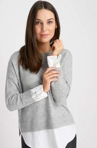 Pullover mit Hemd
