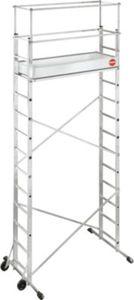 Hailo ProfiStep® multi Aluminium-Leitern-Gerüst 2 x 6 Sprossen inkl. Zusatzgerüst 2 x 7 Sprossen und Alu-Bordbrett-Satz