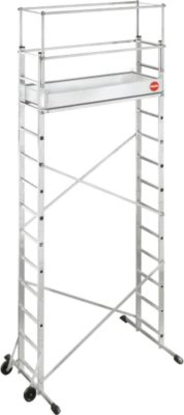 hailo profistep multi aluminium leitern ger st 2 x 6 sprossen inkl zusatzger st 2 x 7 sprossen. Black Bedroom Furniture Sets. Home Design Ideas