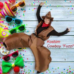 Aufblasbares Kostüm Cowboy Fuzzi Wilder Westen Karneval Fasching