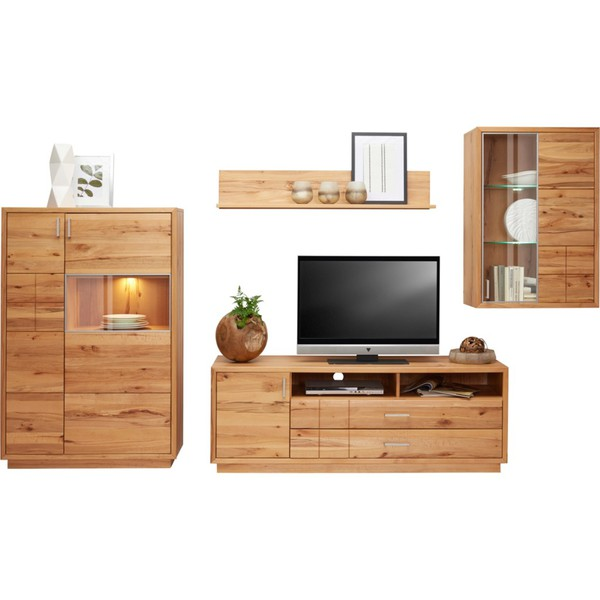 cantus wohnwand wildkernbuche furniert massiv braun von xxxlutz ansehen. Black Bedroom Furniture Sets. Home Design Ideas