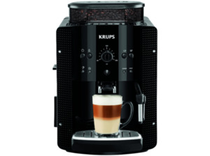 KRUPS EA 8108, Kaffeevollautomat, 1.8 Liter Wassertank, 15 bar, Metall-Kegelmahlwerk, Schwarz