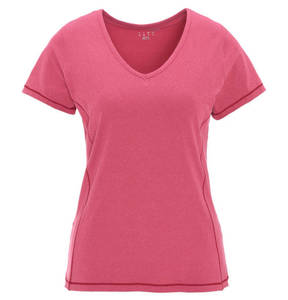 manguun sports             T-Shirt, uni, V-Ausschnitt, elastisch, für Damen