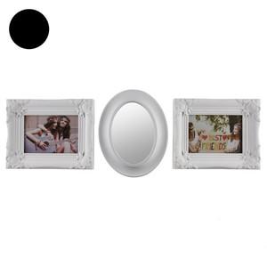 Dekoratives Set aus Bilderrahmen und Spiegel
