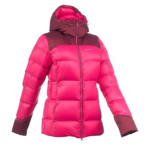 Daunenjacke Top Warm Damen pink QUECHUA